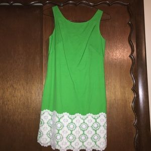 Lilly Pulitzer jubilee green shift dress